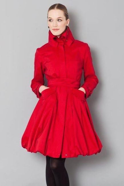 Samue Dong Bubble Coat Red