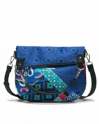 Desigual Blue Folded Bag Summer 2018