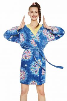 Desigual Blue Bath Robe