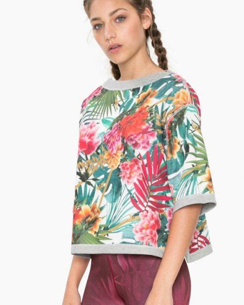 Desigual Reversible Sweatshirt Oriental Tropic