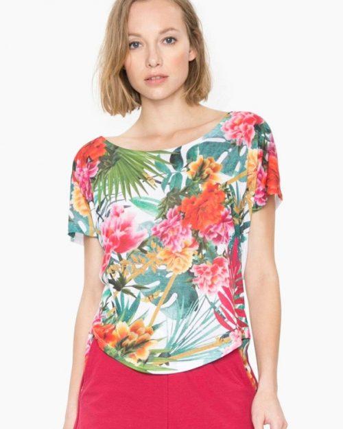 Desigual Oversize Floral Top