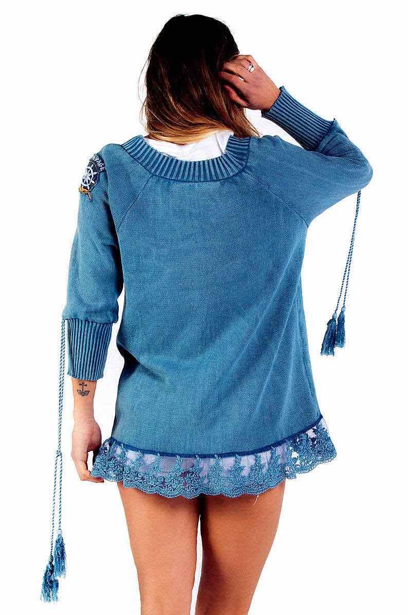 Savage Culture Sweater Capri 34027 Blue