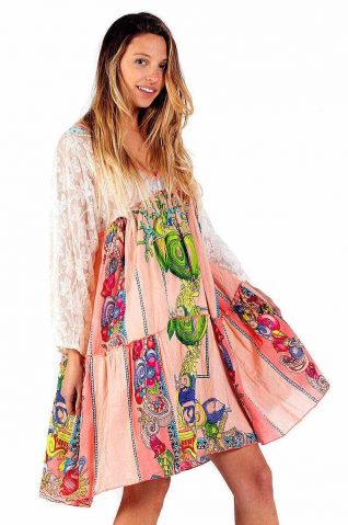Savage Culture Dress Cala Moli Patchwork