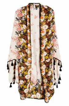 Free People Bali Wrapped in Blooms Shawl Ivory