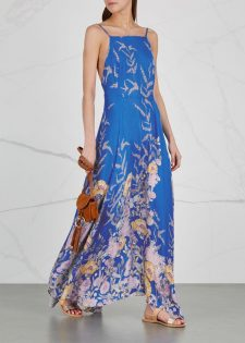 Free People Embrace It Maxi Dress Blue