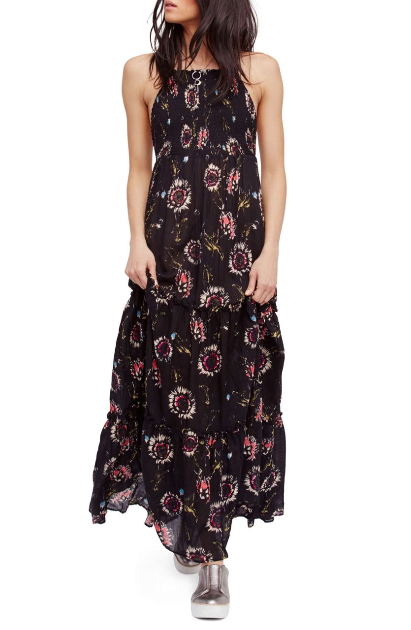 Free People Garden Party Maxi Dress Ob580623 Onyx Buy