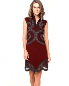 Pygmees Dress Spirale Maroon