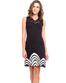 Pygmees Dress Concorde Black White