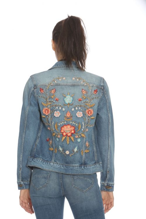 Driftwood Jean Jacket with Embroidery