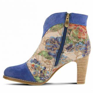 L'Artiste by Spring Step Booties Vaso Blue