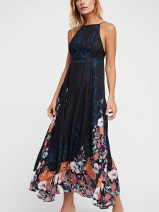 Free People Embrace It Maxi Dress Black