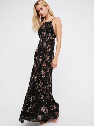 Free People Garden Party Maxi Dress Black
