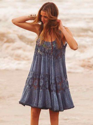 7d1302b4422 Savage Culture Blue Beach Dress