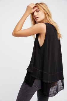 Free People Black Sleeveless Top layered
