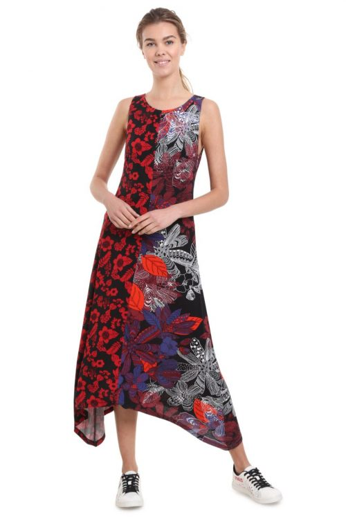 Desigual Patchwork Long Dress