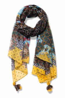 Deigual Scarf AFRO Brown Yellow