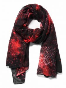 Desigual Foulard Spray Dots Red