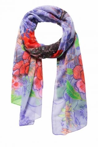 Desigual Scarf with Woman Photojpg