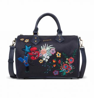 Desigual Bowling Bag with Embroidery
