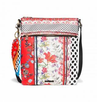 Desigual Messenger Bag Patchwork Design