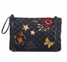 Desigual Clutch Always Macau Black Embroidery