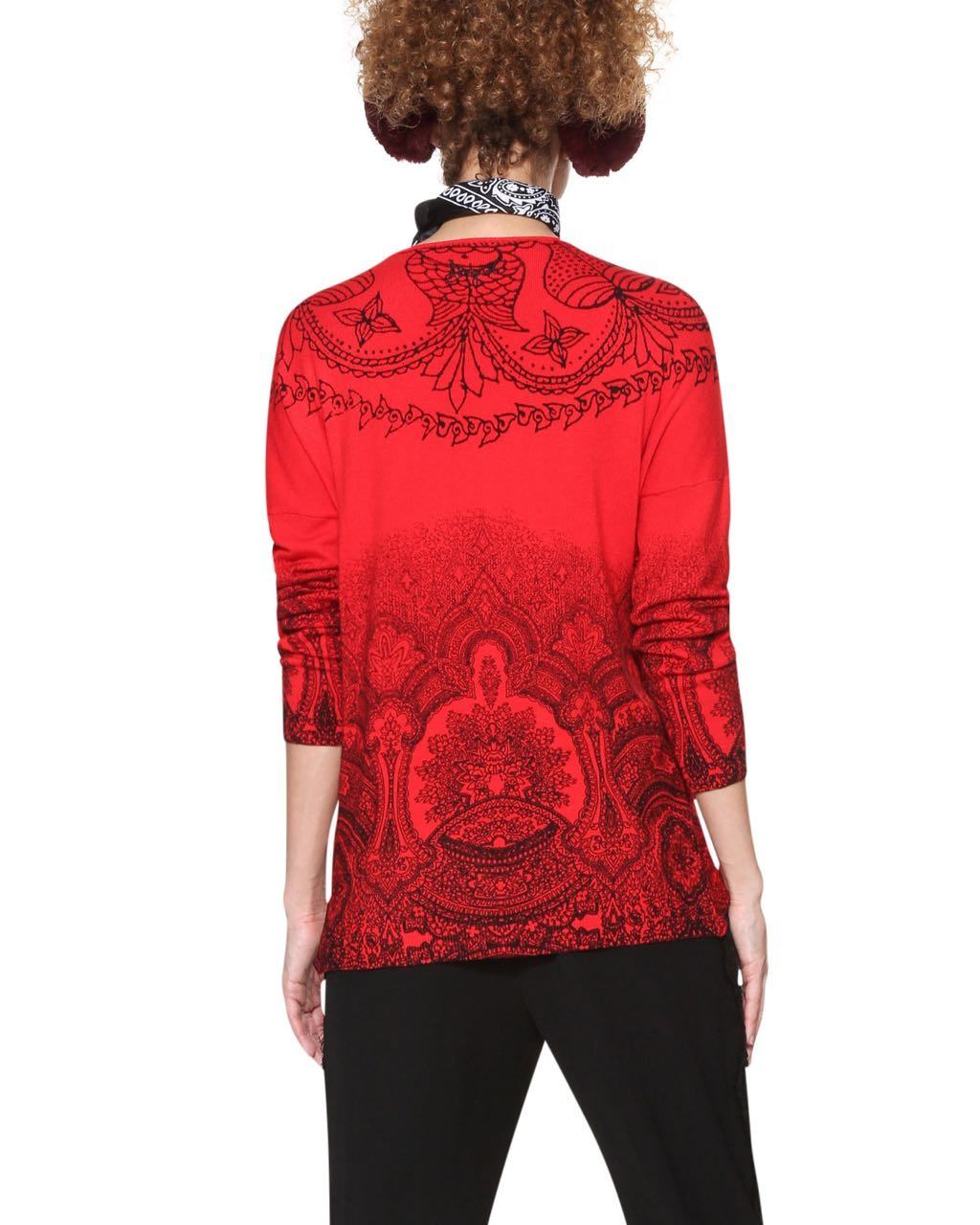 Desigual Sweater LISBOA 18WWJFAT Red Fall 2018 f0e20099d