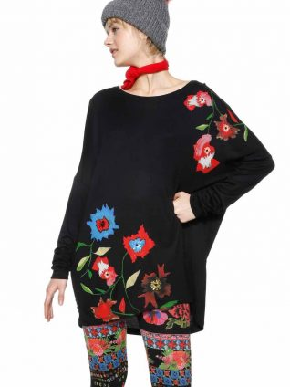 Desigual Long Black Oversize Top Amsterdam
