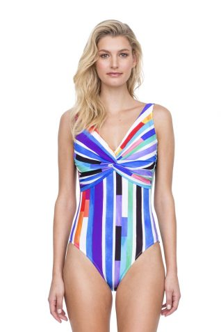Gottex One Piece Bright Stripes Swimsuit
