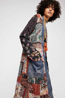 Free People Patchwork Coat
