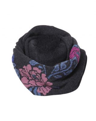 IVKO Infinity Scarf with Flower