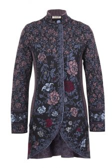 IVKO Long Merino Wool Jacket with Embroidery