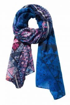 Desigual New Magic Blue Pink Scarf