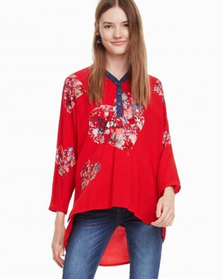 Desigual Temis Red with Hearts