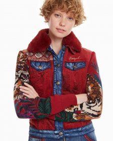 Desigual Jacket Yuma Red Denim