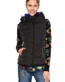 Desigual Black winter Jacket with Removable Sleeves