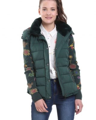 Desigual 2 in 1 Winter Jacket Pia Verde