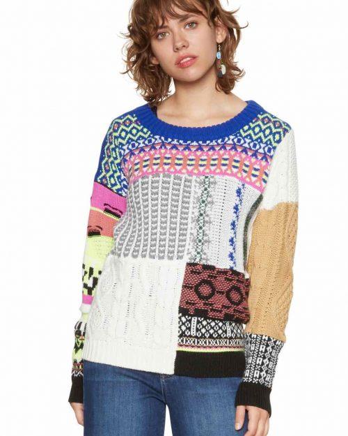 Desigual Patchwork Sweater