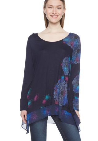 Desigual Long Top with Mandalas Design
