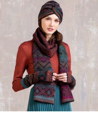 IVKO Winter Scarf Geometric Pattern