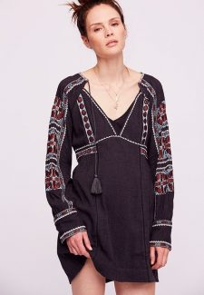 Free People All my life mini dress black