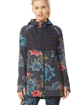Desigual Sport Long Winter Jacket Patchwork