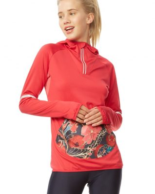 Desigual Scarlet Bloom Hoodie Red