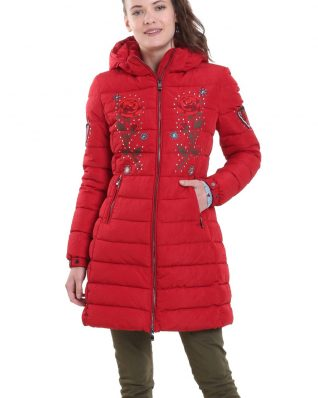 Desigual Coat Padded Flash Borgona