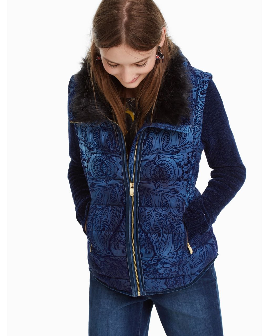 Desigual 2 In 1 Jacket Alexandra 18wwew87 Navy Fall