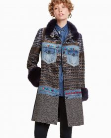 Desigual Patchwork Coat Sabrina Fall 2018