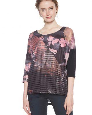 Desigual T-Shirt Belgica Black Pink