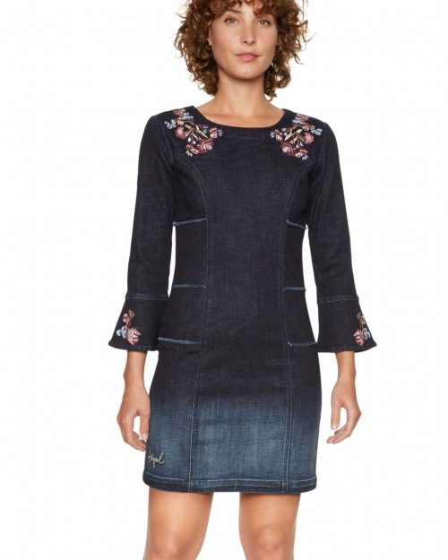 Desigual Jean Dress Laura with Embroidery