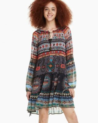 Desigual Dress Carolina Ethnic Design