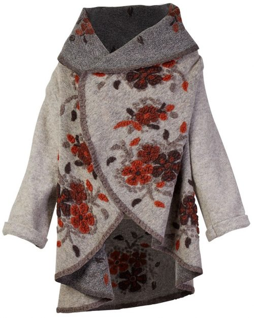 M Made in Italy Wool Shawl Open Jacket