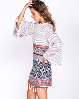 Savage Culture Ethnic Dress with Tassels